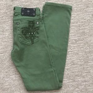 Miss Me Forest Green Skinny Keans